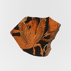 Fragment of a terracotta volute-krater (bowl for mixing wine and water)