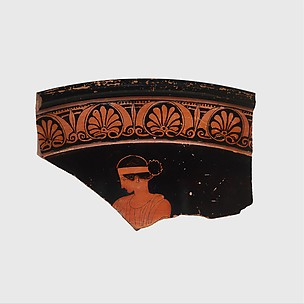 Fragment of a terracotta calyx-krater (bowl for mixing wine and water)