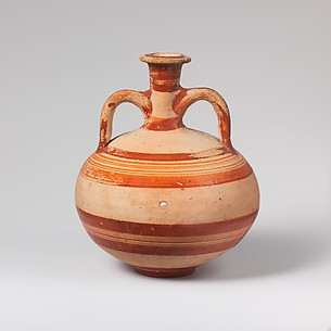 Terracotta globular flask