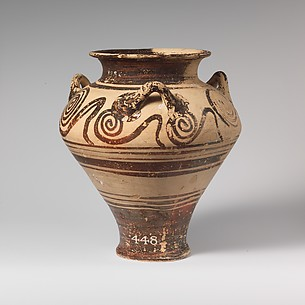 Terracotta pithoid jar