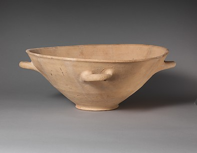Terracotta basin with four handles