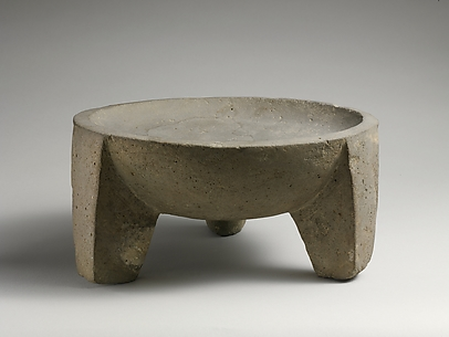 Basalt tripod vessel or mortar