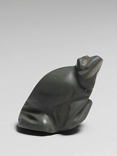 Jasper amulet in the form of a frog