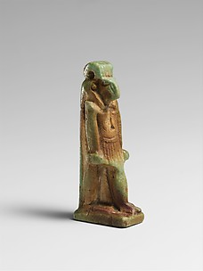 Faience amulet of Thoth