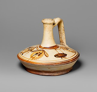 Terracotta lagynos (oil flask)
