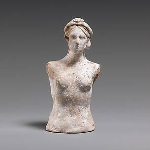 Terracotta bust of a woman