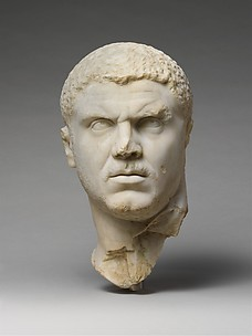 Marble portrait of the emperor Caracalla
