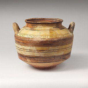 Terracotta jar with vertical handles