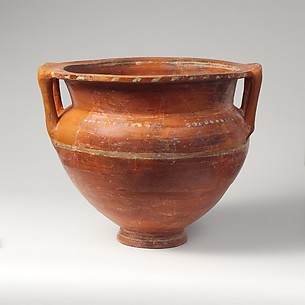 Terracotta krater (mixing bowl)