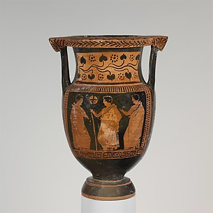 Terracotta column-krater (mixing bowl)