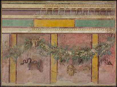 Wall painting from the west wall of Room L of the Villa of P. Fannius Synistor at Boscoreale