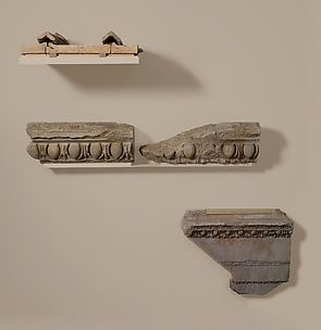 Marble roof tiles from the Temple of Artemis at Sardis
