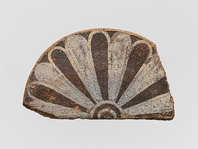 Fragment of a terracotta antefix