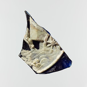 Cameo glass plate fragment