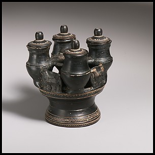 Terracotta kernos (vase for multiple offerings)