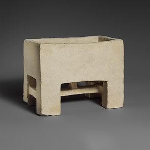 Undecorated limestone chest