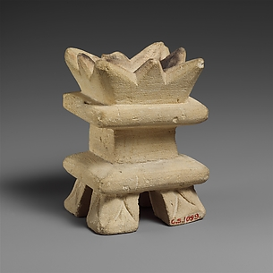Limestone incense burner on four legs