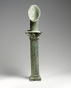 Bronze spout in the form of a Corinthian column