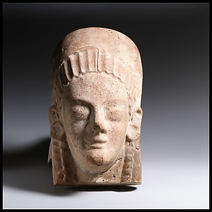 Terracotta antefix (roof tile) with head of a woman