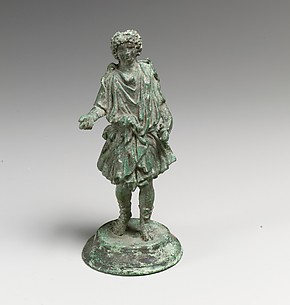 Bronze statuette of a Lar