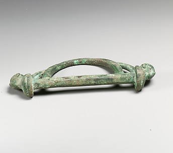 Bronze fitting, possible from a cart or chariot