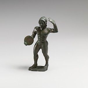 Bronze statuette of a diskos thrower