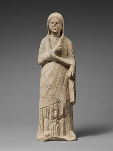 Limestone statuette of a female votary