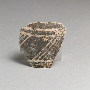 Terracotta rim fragment with triglyph and metope motif