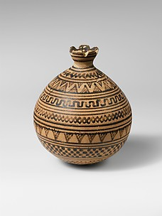 Terracotta vase in the form of a pomegranate