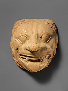 Terracotta head of a lion