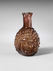 Glass double head-shaped flask