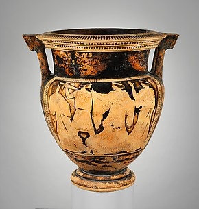Terracotta column-krater (vase for mixing wine and water)