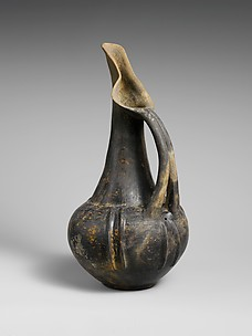 Terracotta beak-spouted jug