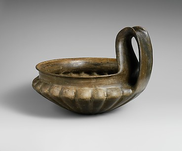 Terracotta kyathos (single-handled cup)