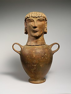 Terracotta canopic urn