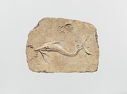 Stucco mural relief fragment