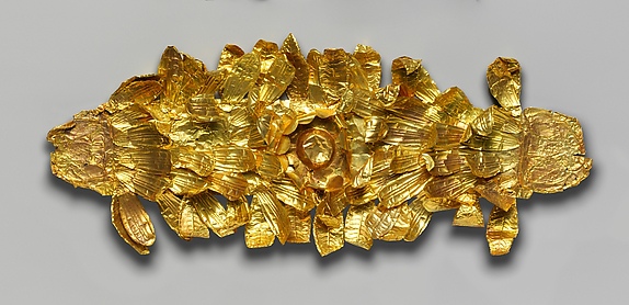Gold funerary wreath