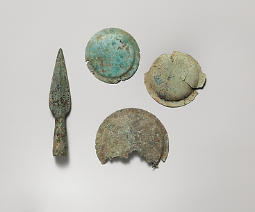 Miniature bronze shield
