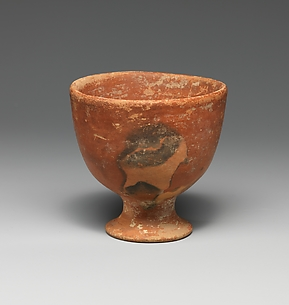 Terracotta footed cup