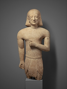 Limestone male figure in Egyptian dress
