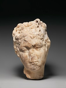 Marble head of a young woman