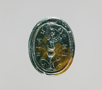 Jasper intaglio: Harpocrates seated on a lotus