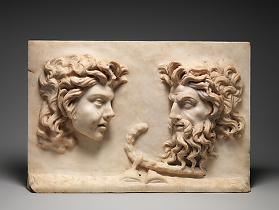 Marble two-sided relief
