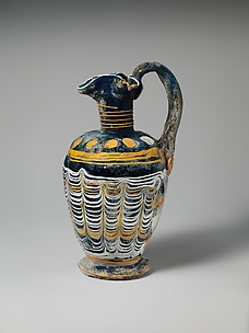 Glass oinochoe