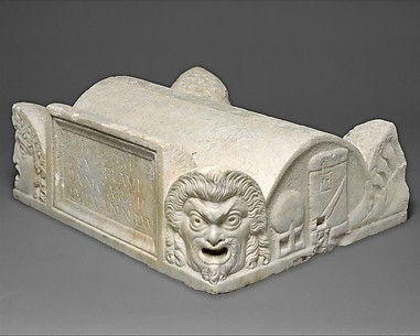 Marble lid of a cinerary chest