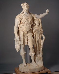 Statue of Dionysos leaning on a female figure (