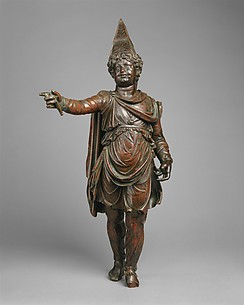 Bronze statuette of a boy in Eastern dress