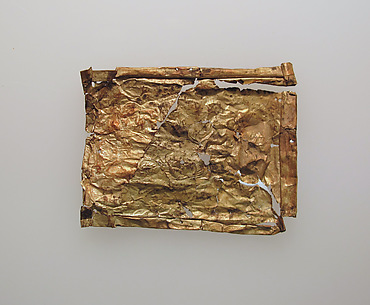 Plaque, thin gold leaf