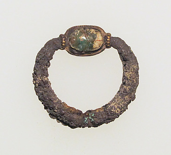 Ring with scarab