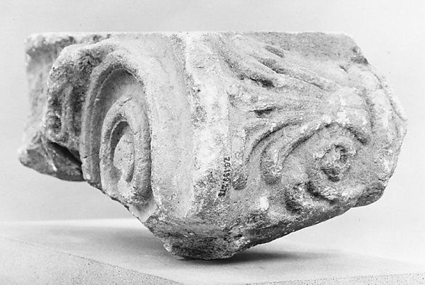 Marble fragment of an Ionic column capital